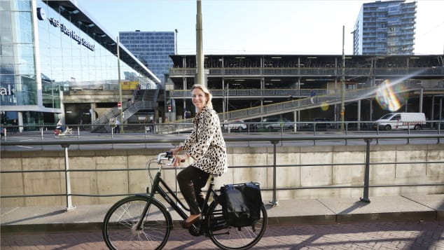 Stientje van Veldhoven (pictured) commutes by bike, according to the ministry.