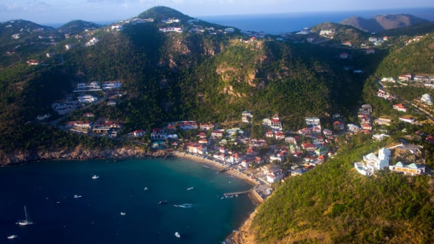 Most of St. Barts hotels and villas are open.