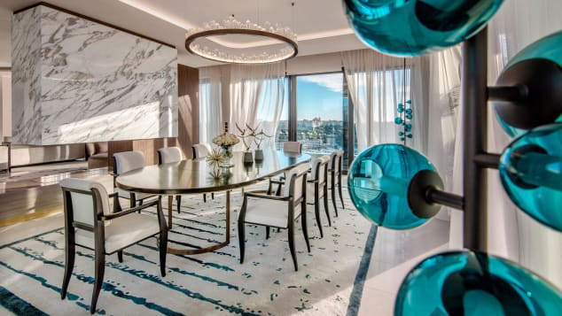 The Princess Grace Suite at the Hôtel de Paris Monte-Carlo has an 180° view of the sea.