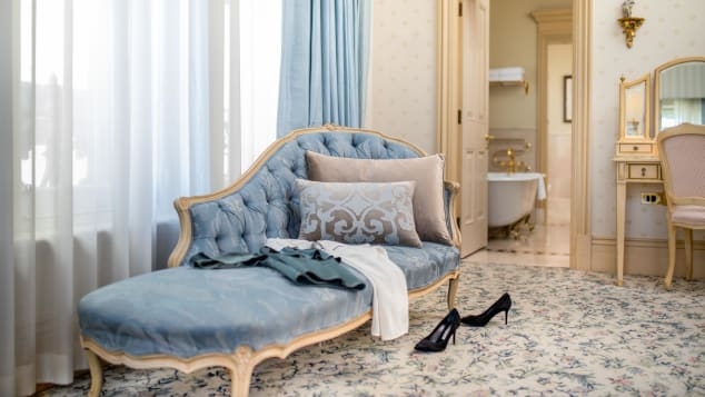 The Royal Suite at The Hotel Windsor in Melbourne has hosted many celebrity guests.