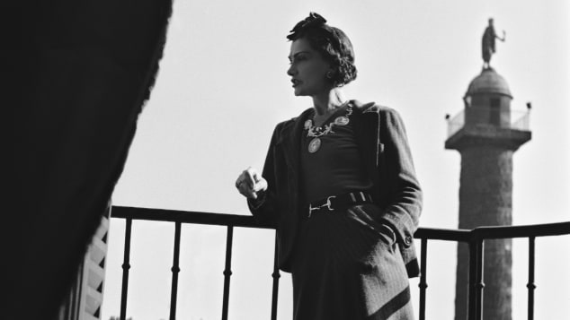 Fashion designer Coco Chanel in Paris.