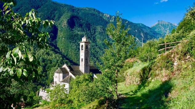 Borgomezzavalle lies close to Italy's border with Switzerland.