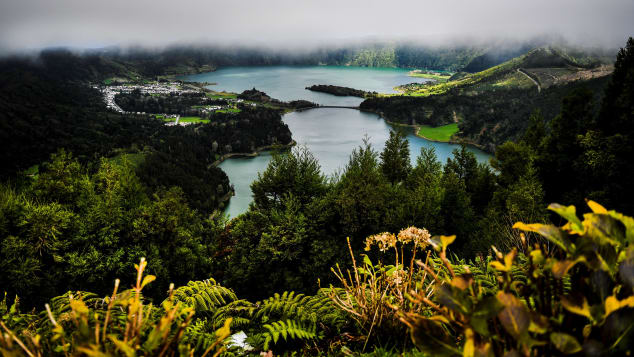 São Miguel, the biggest island in the Azores, is home to Lagoa de Fogo.