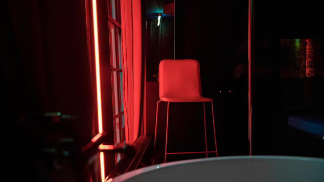'My Red Light' is a brothel in Amsterdam's Red Light District.