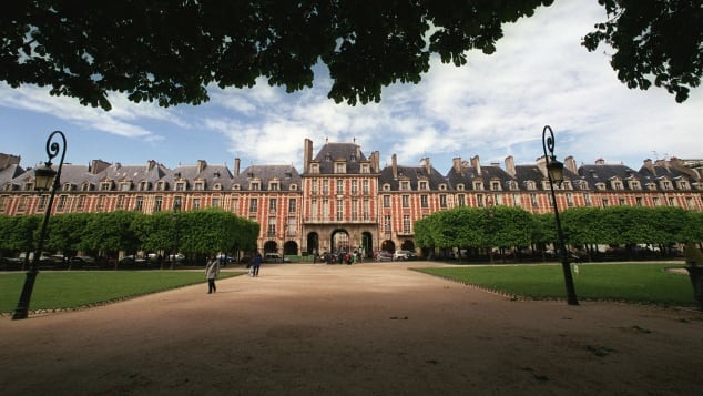 Place des Vosges is a peaceful spot for a leisurely stroll.
