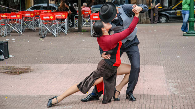 Tango in Buenos Aires is a dance for romance.