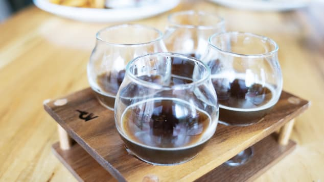 White Labs Kitchen & Tap offers flights of beer featuring different strains of yeast.