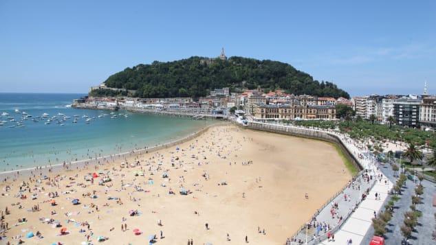 La Concha Beach in San Sebastian was fourth on the list, the highest European entry.