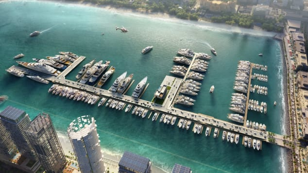 A render of the upcoming Dubai Harbour, set to open in 2020.