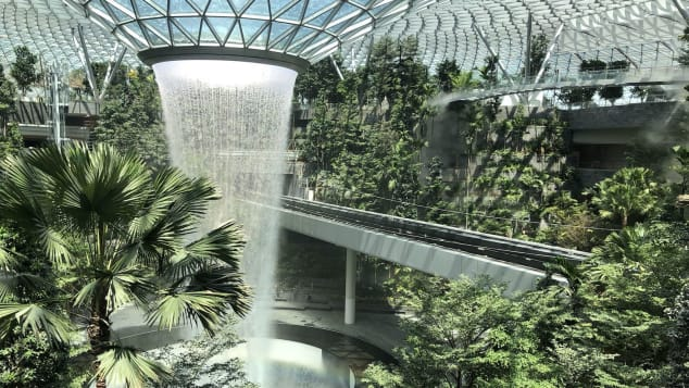 The indoor waterfall | cnn.com