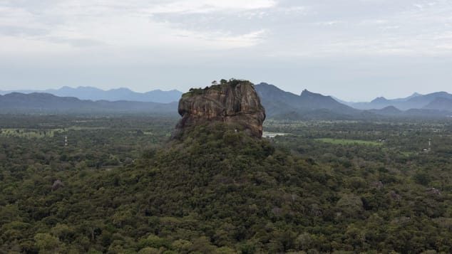 The ancient rock fortress of Sigiriya is located in north central Sri Lanka.