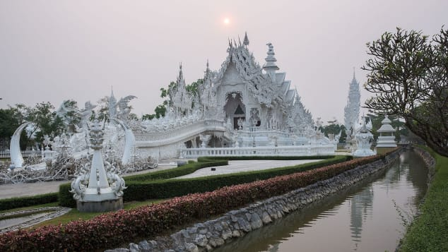 """Chiang Rai's Wat Rong Khun -- better known as the """"White Temple"""" -- is a popular city attraction."""