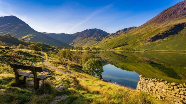 Early morning at Buttermere in England's Lake District.