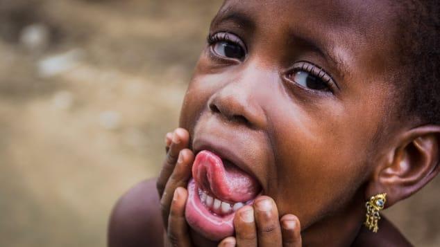 Playful child Nigeria