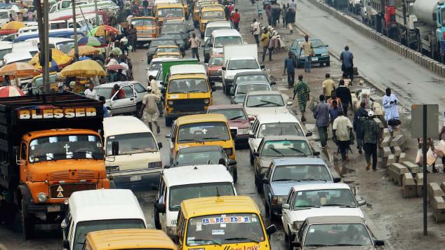 Lagos traffic view