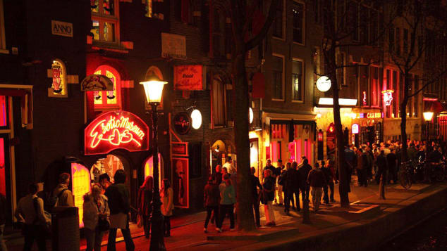 Amsterdam's Red Light District has been a center for sex work since the 1200s.