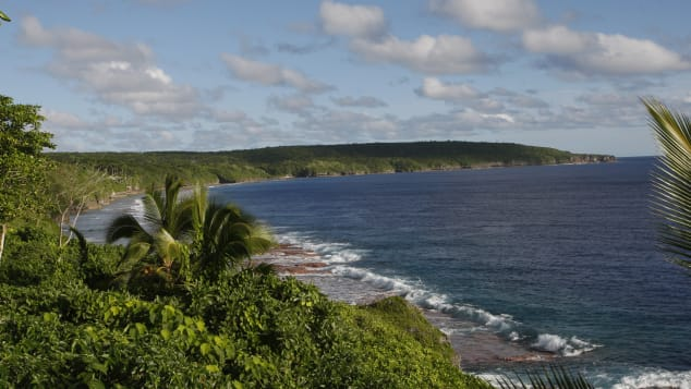 The waters off Niue's rugged coastline are used as a nursery by humpback whales.