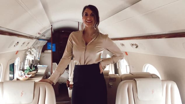Kalymnou says she's flown for royal families, heads of states, CEOs and celebrities.