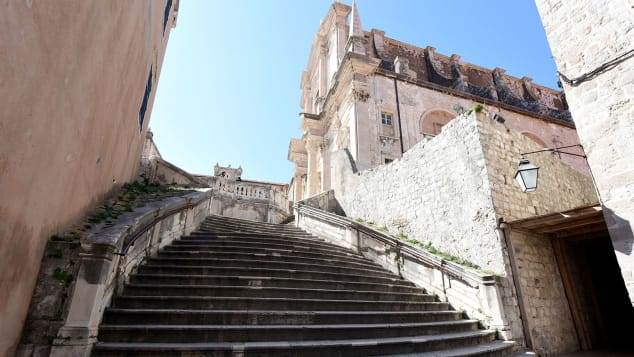The Jesuit Staircase is in Dubrovnik, setting for much of the King's Landing action.