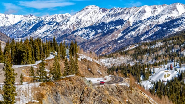 Million Dollar Highway stetches across 82 miles in the rugged and remote southwest side of Colorado.