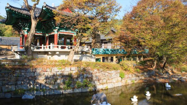 Magoksa Temple houses several cultural treasures.