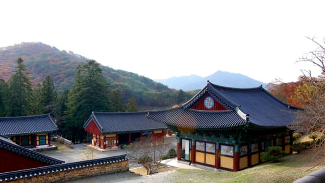 Taeansa Temple in autumn.