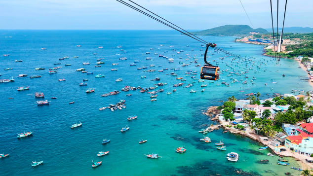 Phu Quoc is home to the world's longest sea cable car route.