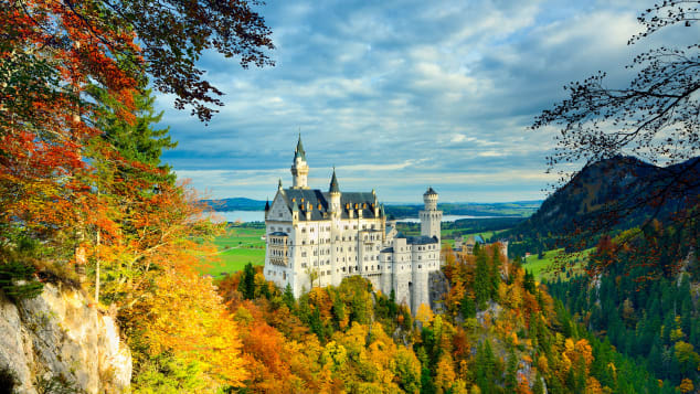 Germany's Neuschwanstein Castle was built by Bavarian King Ludwig II.