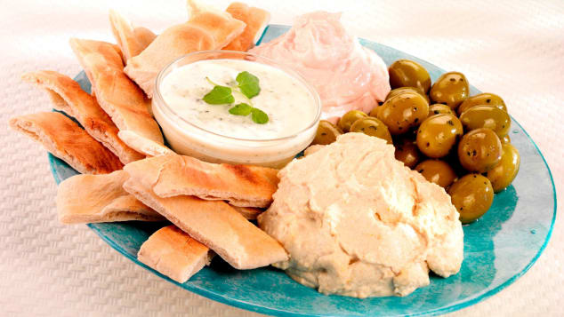 Taramasalata is made from cured fish roe.