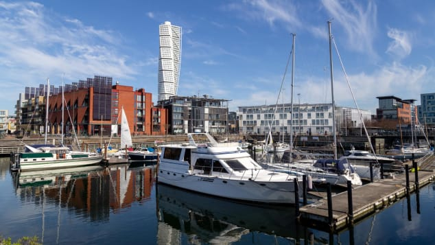 Malmo -- the third largest city in Sweden after Stockholm and Gothenburg.