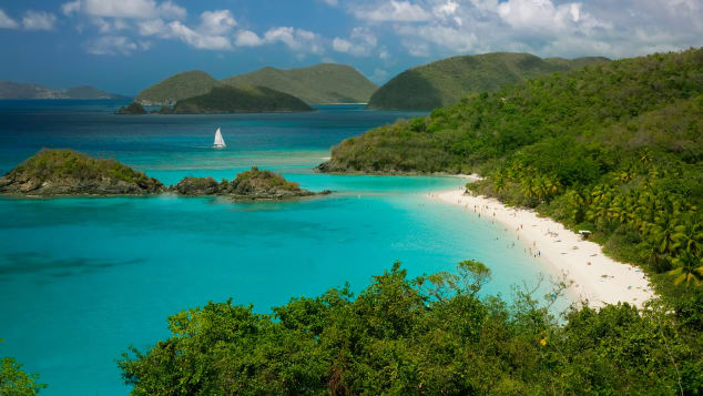 Put on your swimming trunks and head to Trunk Bay at Virgin Islands National Park.