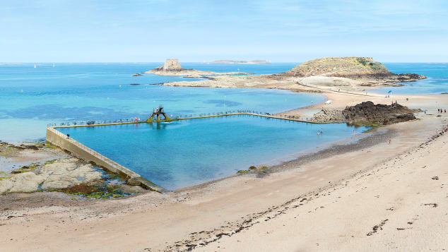 This pool bordering the surf in Saint-Malo, France, has been drawing bathers since the '30s.