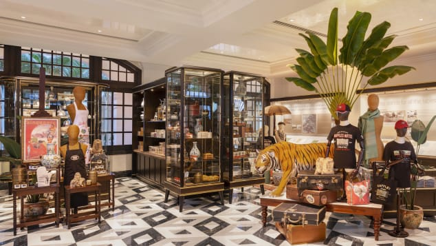 Guests eager to take home a piece of Raffles nostalgia can visit the hotel's new boutique.