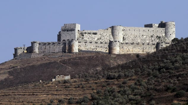 Krak des Chevaliers was created in the 12th century by the Knights of St John.