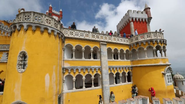 Portugal's Pena Palace boasts a mix of architectural styles.