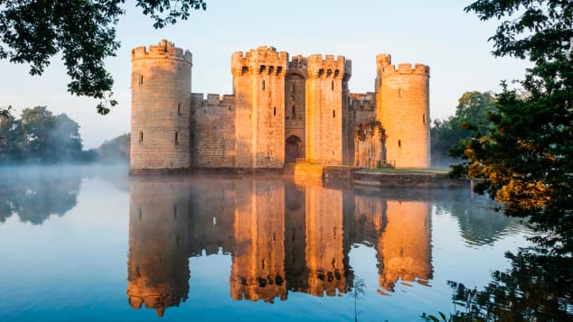 The epitome of a medieval fortress: Bodiam Castle.