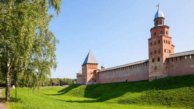 Not as well known as Moscow's Kremlin, but Novgorod's fortress has more medieval ambience.