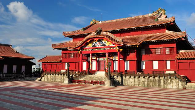 Shuri castle was heavily restored after World War II.