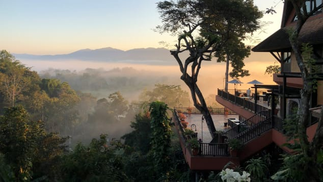 The resort, located in Chiang Saen, overlooks Myanmar and Laos.