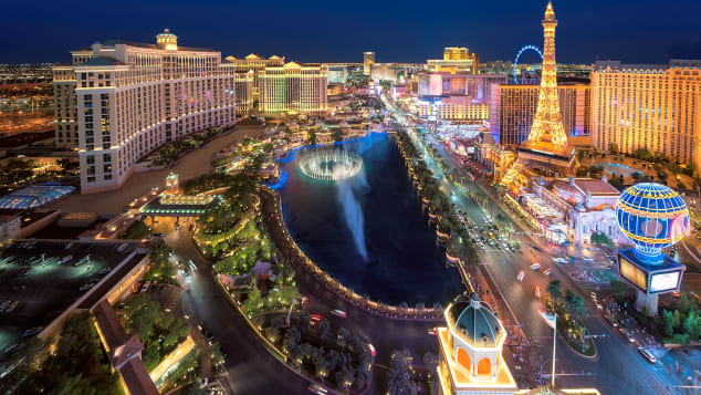 The glittering lights of the Strip offer a party experience for nearly every type of guest.