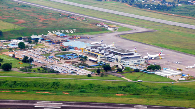 Aerial view of Entebbe International Airport