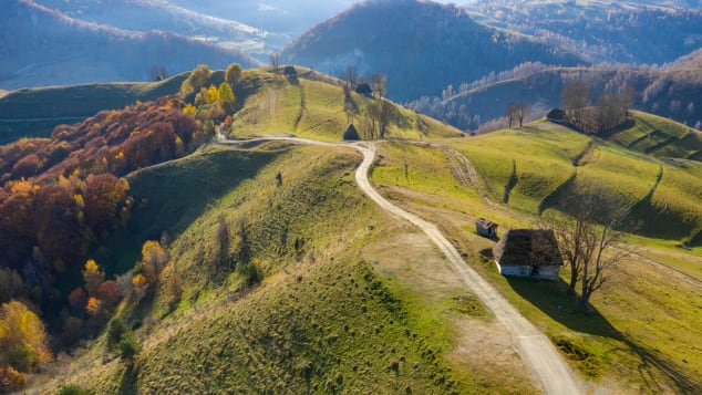 Romania's Apuseni mountains form part of the western Carpathian Mountains in Transylvania.