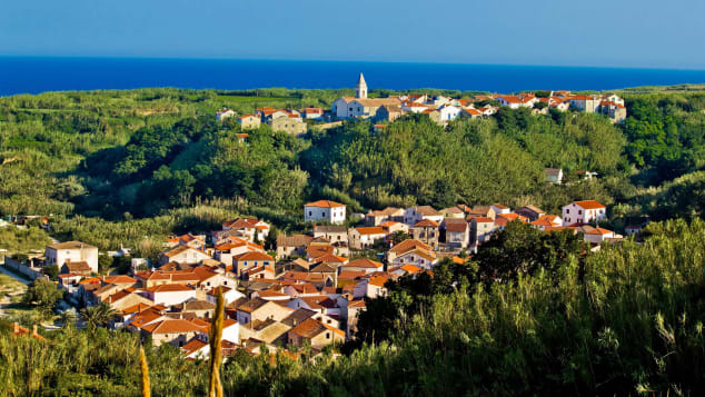 Mediterranean town and amazing green landscape, Island of Susak, Croatia,; Shutterstock ID 86132260; Job: -