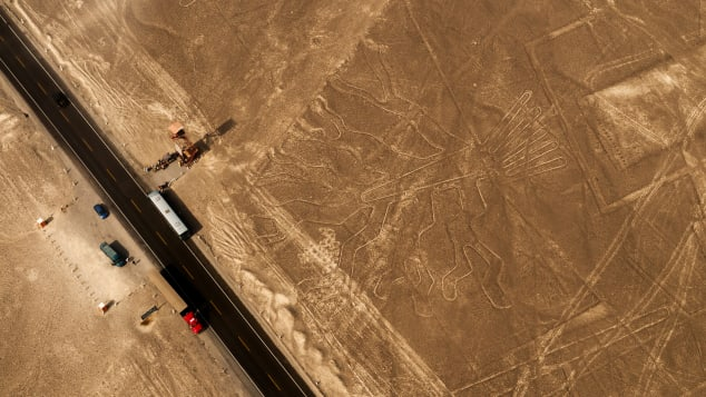 These days, there are highways running past some of the Nazca Lines.