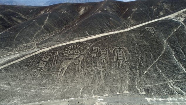 The Nazca lived in the first centuries CE in what is now Peru.