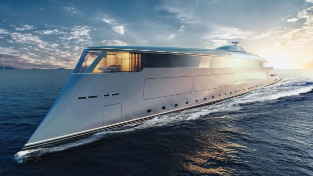 Hydrogen-powered-superyacht---Sinot-AQUA_EXTERIOR-BOW-SIDE-VIEW