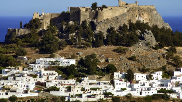 Lindos is renowned for its ancient clifftop acropolis.