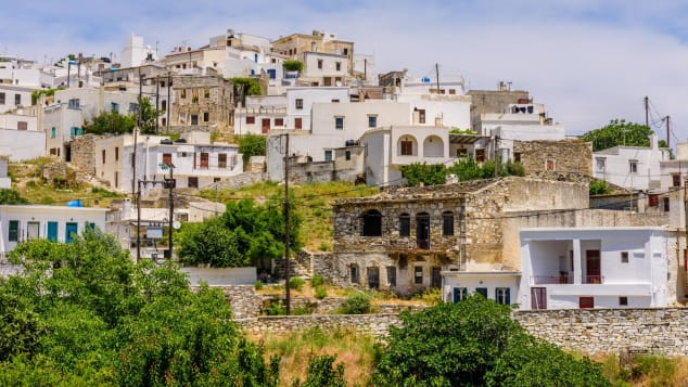 This mountainous village in the island of Naxos is as picturesque as it gets.