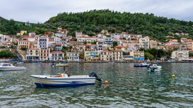 Fishing boats in the charming village of Gytheio.