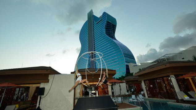 The $1.5 billion guitar-shaped Hard Rock property in Hollywood, Florida, is now open.